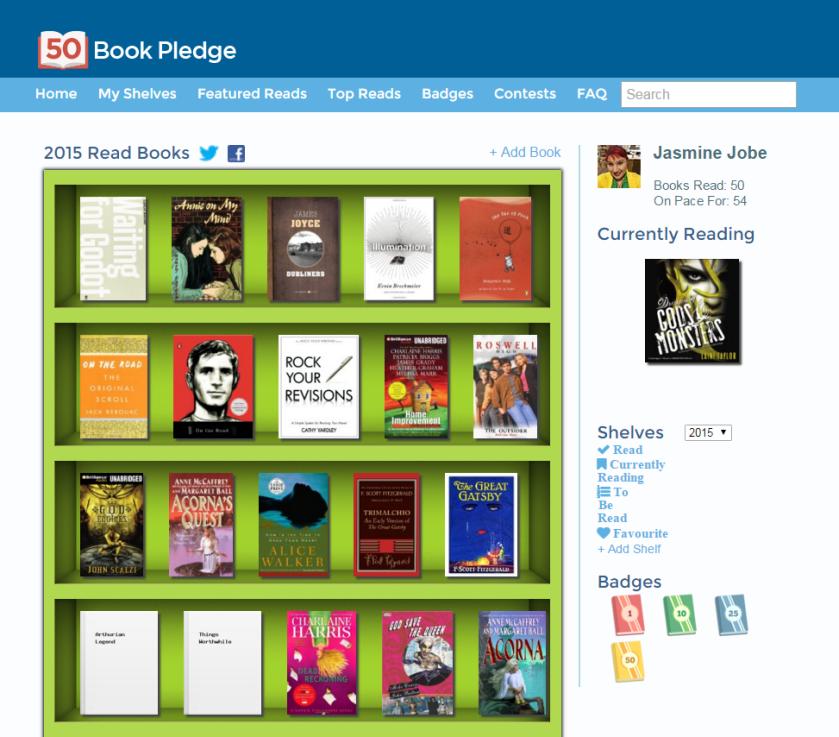 2015 50 book pledge