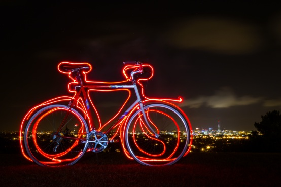light-writing-bike