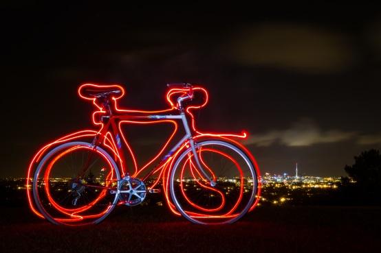 light-writing-bike