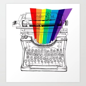 underwood-typewriter-with-a-sliver-of-rainbow-prints