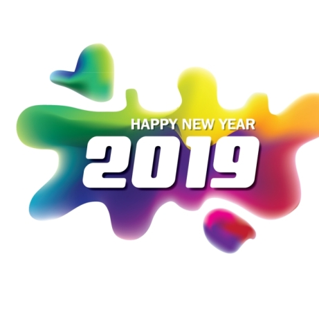 vector-happy-new-year-2019-with-colorful-fluid-png_114071